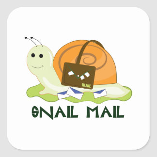 Snail Mail Square Sticker