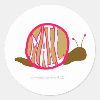 Snail Mail Stickies Round Sticker