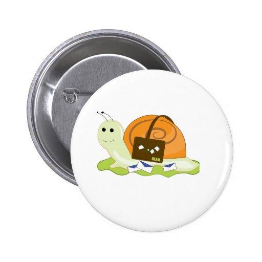 Snail Mailman Pinback Button