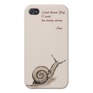Snail original pastel zen drawing iPhone 4 cases