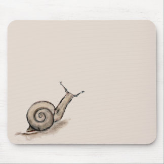 Snail original pastel zen drawing mouse pad