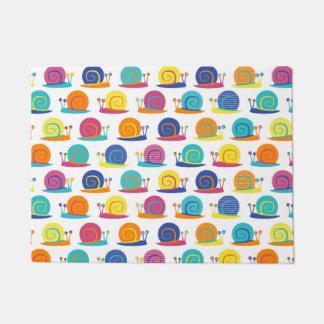 Snail Party Pattern Doormat