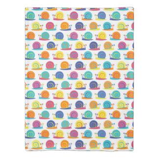 Snail Party Pattern Duvet Cover