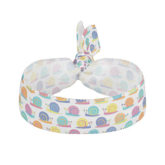 Snail Party Pattern Hair Tie