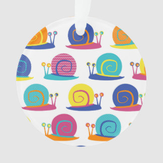 Snail Party Pattern Ornament