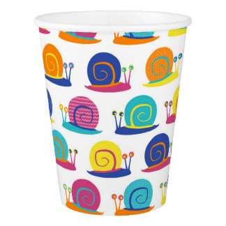 Snail Party Pattern Paper Cup