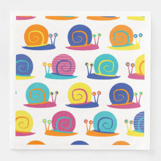 Snail Party Pattern Paper Napkin