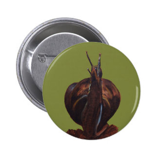 Snail Pastels Drawing  Round Badge 2 Inch Round Button