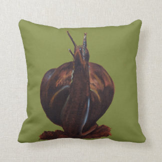 Snail Pastels Drawing Throw Cushion