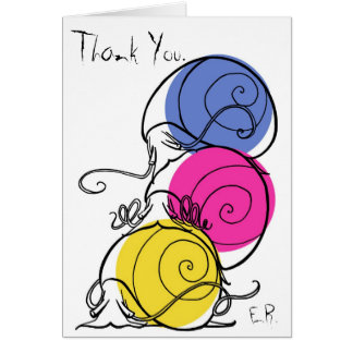 Snail Pile Thank You Card