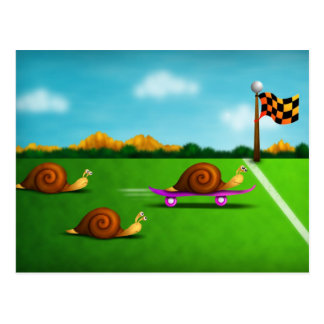 Snail race postcard