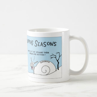 Snail renames seasons coffee mug
