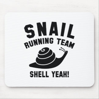 Snail Running Team Mouse Pad