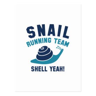 Snail Running Team Postcard