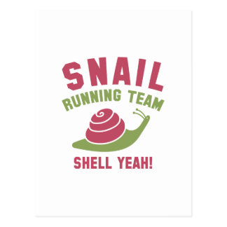 Snail Running Team Postcard