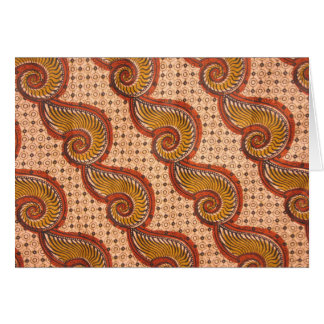 Snail Shell African Fabric Design Greeting Card