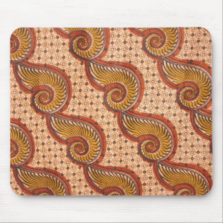 Snail Shell African Fabric Design Mouse Pad