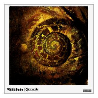 Snail shell golden ratio sacred geometry wall deca wall sticker