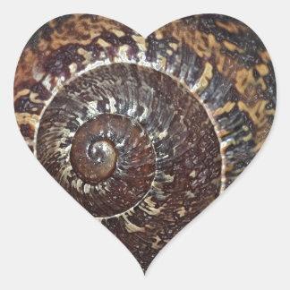 Snail Shell Heart Sticker
