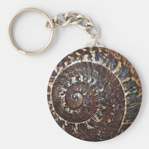 Snail Shell Keychain