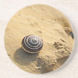 Snail Shell on Sand Coaster