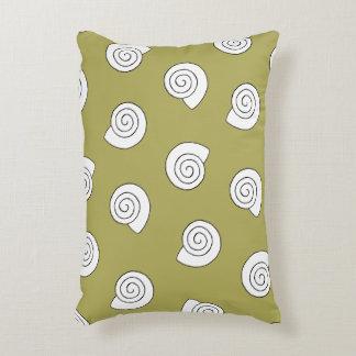 Snail shells accent pillow