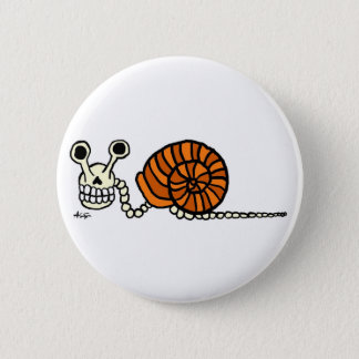 Snail Skeleton Button