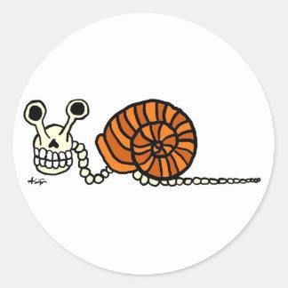 Snail Skeleton Stickers