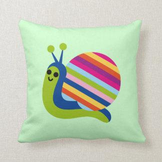 Snail Slugs Gastropoda Cute Cartoon Animal Pillow
