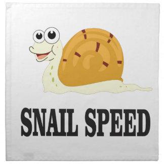 snail speed fast napkin