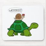 Snail & Turtle - Turbo Duo Mouse Pad