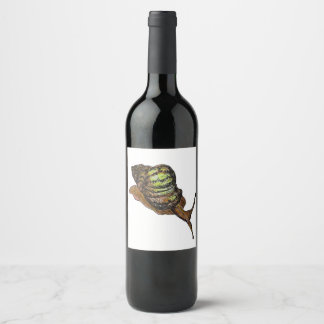 snail wine label