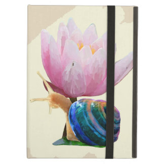 Snail with Flower Ipad Cases (Customize color!)