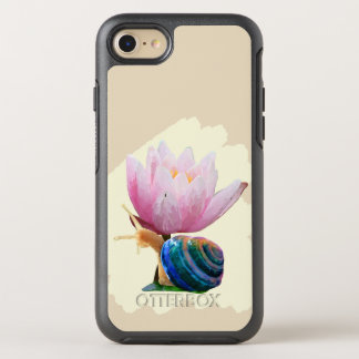 Snail with Flower Otterbox Case(Customize color!) OtterBox Symmetry iPhone 8/7 Case