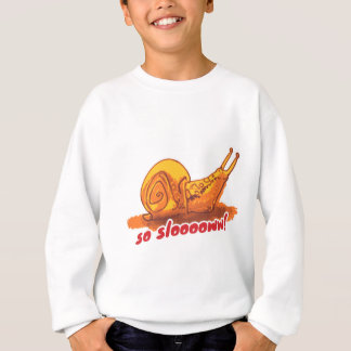 snail with text cartoon style illustration sweatshirt