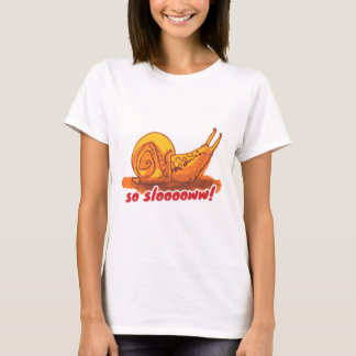 snail with text cartoon style illustration T-Shirt