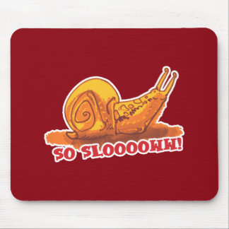 snail with text cartoon style mouse pad