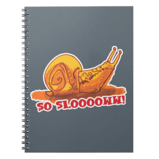 snail with text cartoon style note books
