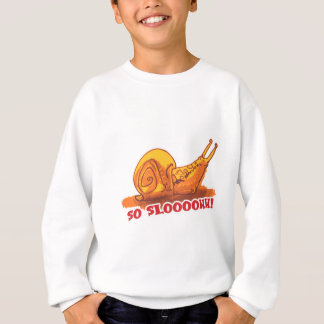 snail with text cartoon style sweatshirt