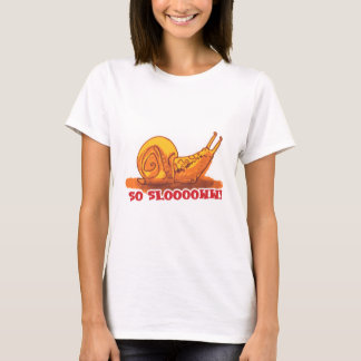 snail with text cartoon style T-Shirt