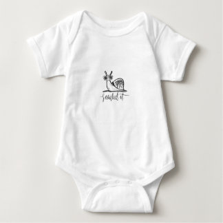 Snailed it baby bodysuit
