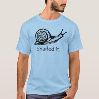 Snailed it funny snail shirt
