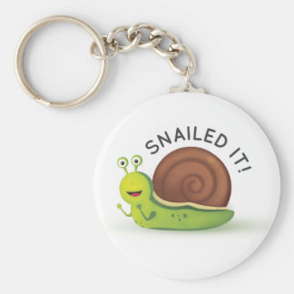 Snailed It Keychain