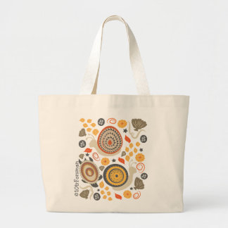 Snails and turtle contemporary textile pattern Bag