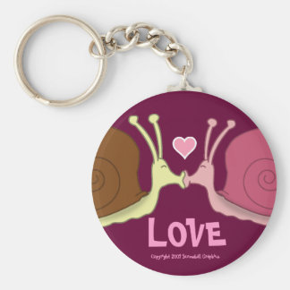 Snails In Love Keychain