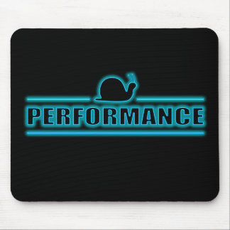 Snails pace performance. mouse pad