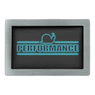 Snails pace performance. rectangular belt buckle