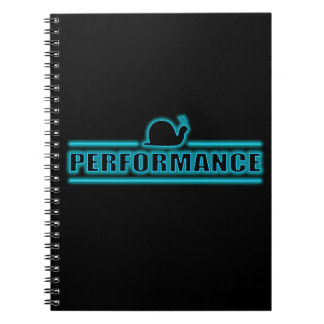 Snails pace performance. spiral note books