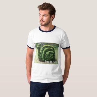 Snails rock! Topiary garden snail fun tee shirt.