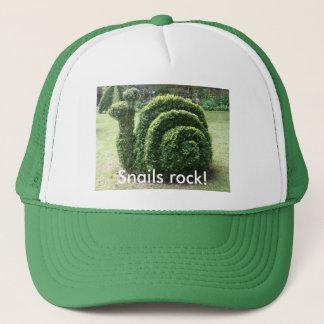 Snails rock! Topiary garden snail fun Trucker Hat